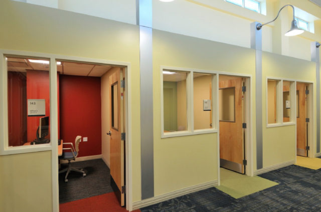 Offices are provided for clients to meet with service providers. Image courtesy Sarasota County
