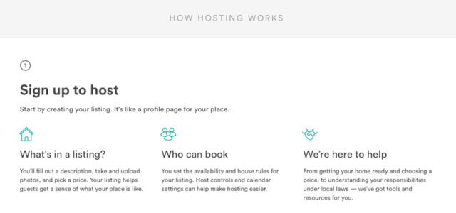 The Airbnb website offers this information about becoming a host. Image from the website
