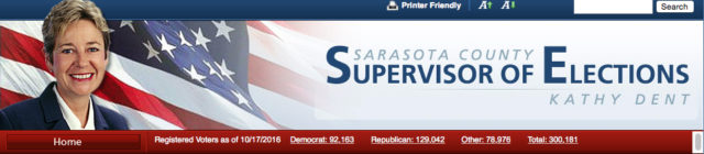 The website banner shows the total exceeding 300,000. Image from the Supervisor of Elections Office website