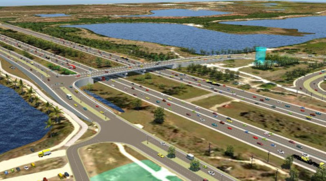An illustration shows the proposed overpass. Image courtesy Sarasota County