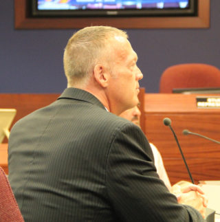 Roy Sprinkle addresses the board on Oct. 18. Rachel Hackney photo