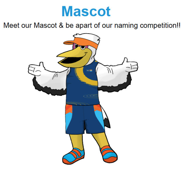 A slide Scerba showed the board featured an image of the pelican mascot. Image courtesy 2017 World Rowing Championships