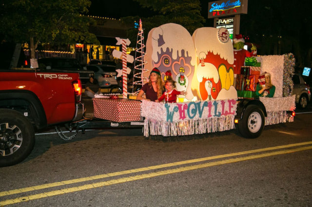 Residents of 'Whoville' wave to the crowd. Photo contributed by Peter van Roekens