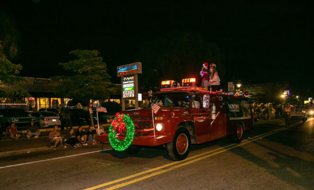 Morton's Siesta Village also entered a fire truck this year. Photo contributed by Peter van Roekens