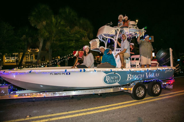 What would a Siesta Key holiday parade be without a boat? Photo contributed by Peter van Roekens