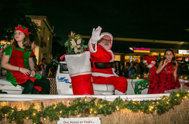 Santa Claus' arrival is always one highlight of the parade. Photo contributed by Peter van Roekens