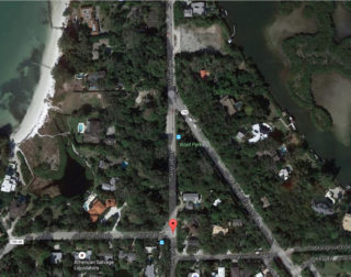 Higel Avenue connects Siesta Drive to Ocean Boulevard and Midnight Pass Road on Siesta Key. Image from Google Maps