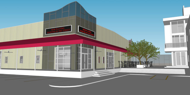 A rendering shows the plans improvements planned as a result of the Westcoast Black Theatre Troupe's capital campaign. Image courtesy WBTT