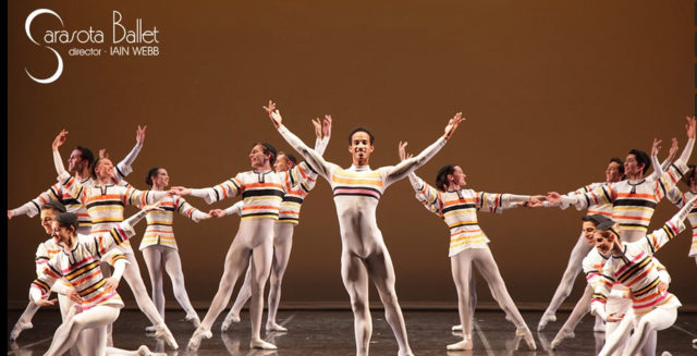 Sinfonietta is by Sir Frederick Ashton. Image courtesy Sarasota Ballet