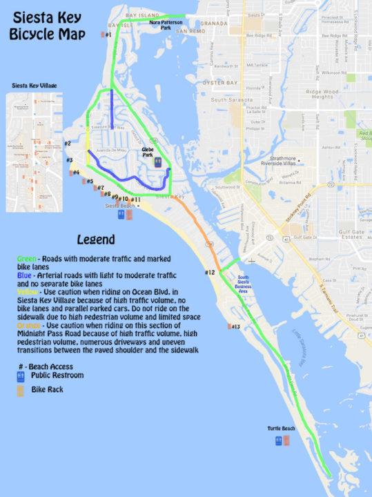 Siesta Key Beach Access Map The Best Beaches In World