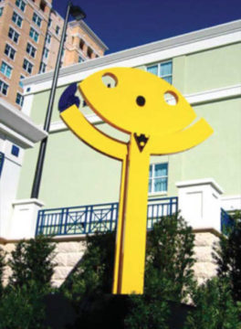 Smile by Jorge Blanco is at the intersection of U.S. 41 and Boulevard of the Arts. Image courtesy City of Sarasota