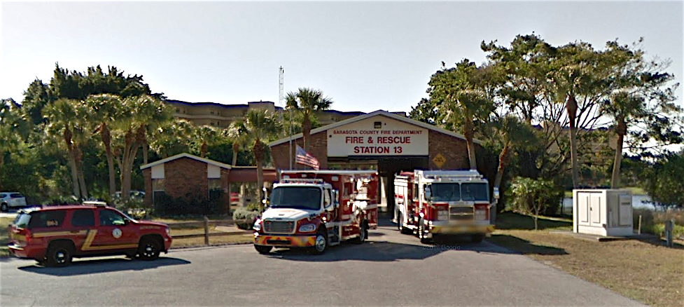 Fire Station 13 is located at 1170 Beach Road. Image from Google Maps