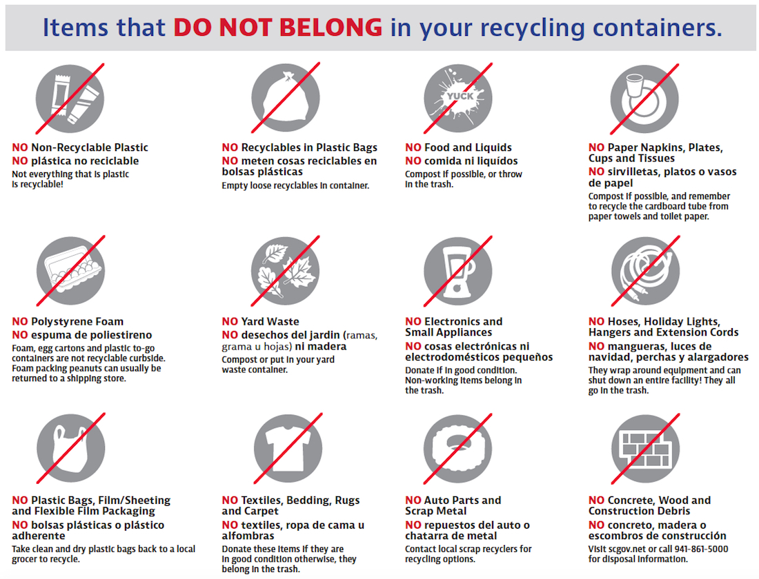 Do S And Don Ts For Recycling Emphasized To Siesta Key